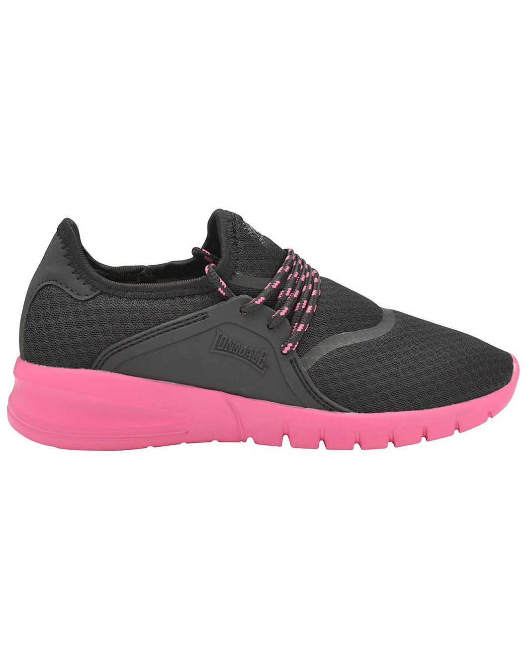 Lonsdale Sirius Trainers Black and Pink