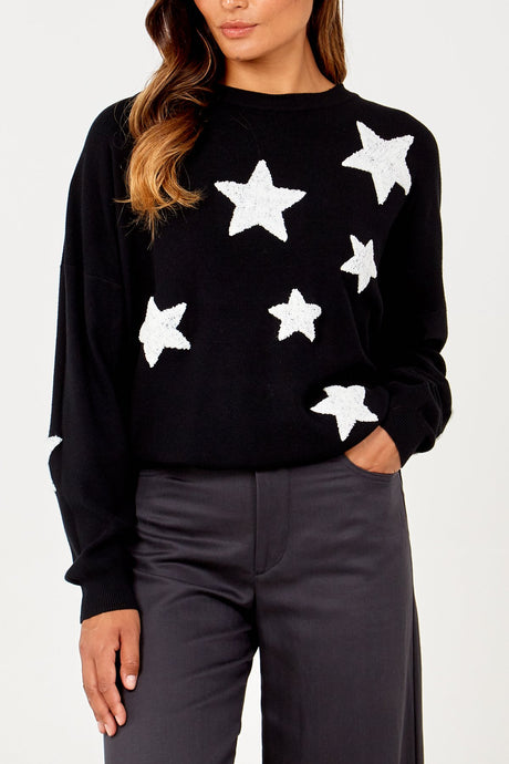 Stunning Multi Bold Star Jumper