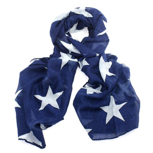 Printed Bold Star Lightweight Scarf - Scattee