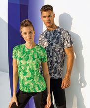 Load image into Gallery viewer, Camo performance T-Shirt Sapphire