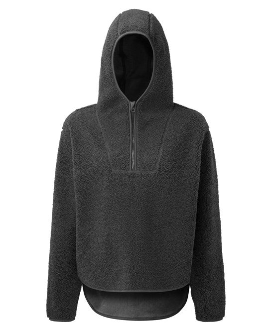 Women's Cosy And Comfortable Sherpa Fleece Hoodie Charcoal