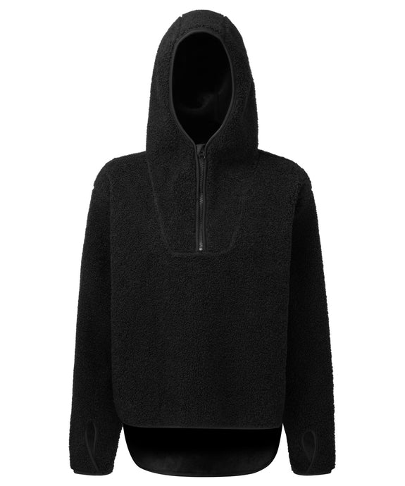 Women's Sherpa Fleece Hoodie Black