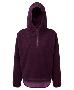 Women's Cosy And Comfortable Sherpa Fleece Hoodie Mulberry