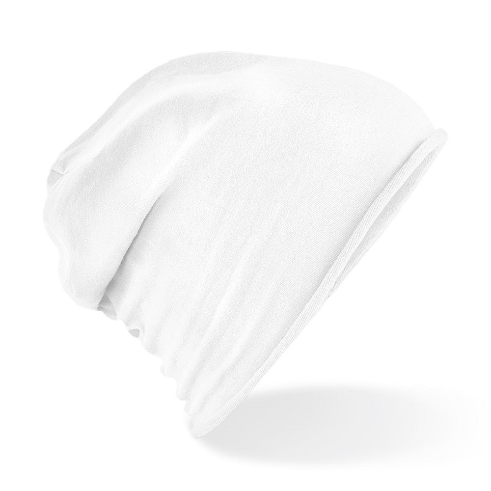 Jersey Beanie White - Scattee