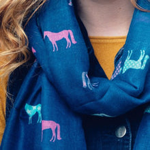 Load image into Gallery viewer, Equestrian Lightweight Scarf - Scattee