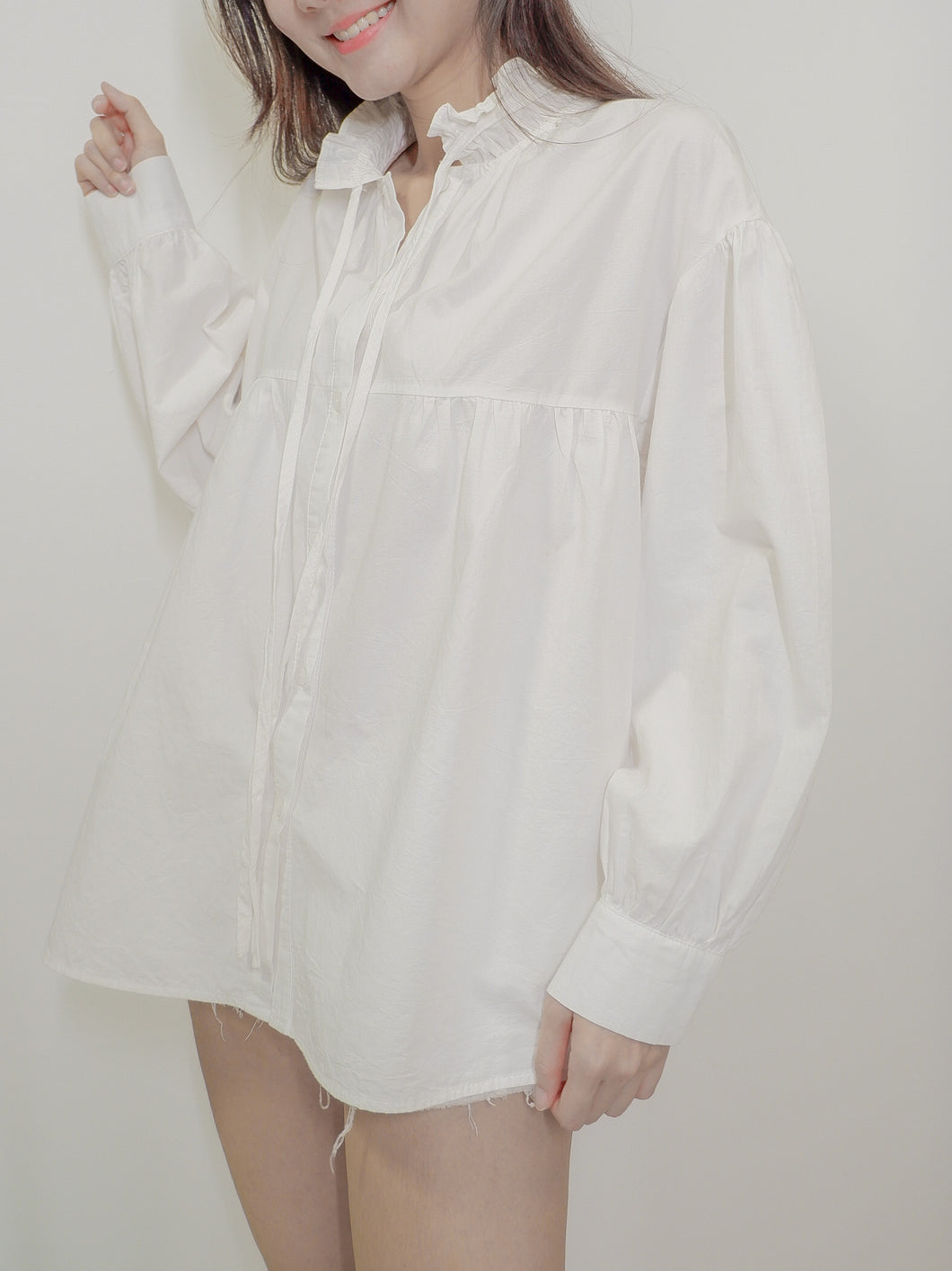 Candy Long Sleeve Shirt - Fairy White