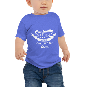 """Little world created by love"" Baby Jersey Short Sleeve Tee #116"
