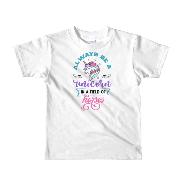 """Always a Unicorn"" Short sleeve kids t-shirt #148"
