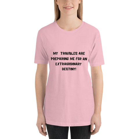 """An extraordinary destiny"" Short-Sleeve Unisex T-Shirt #188"