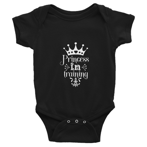 """Princess in training"" Infant Bodysuit #125"