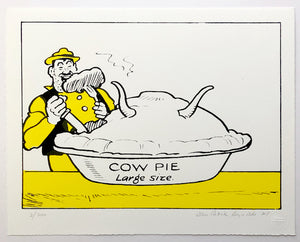 Desperate Dan eats giant cow pie