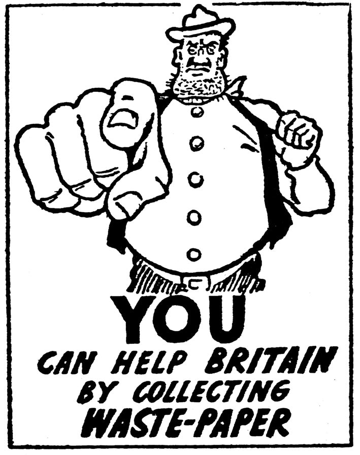 Desperate Dan recycles paper