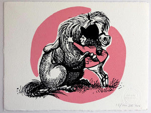 Thelwell's hugging pony available as a medium