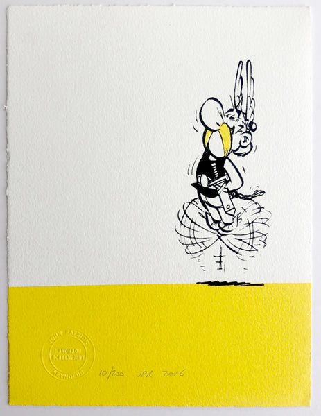 Asterix Dances In Joy (on a yellow bar)
