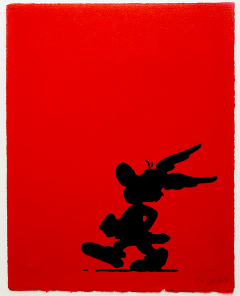 Asterix In Silhouette (On Red)