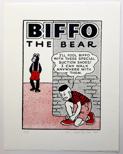 Biffo The Bear And The Suction Shoes