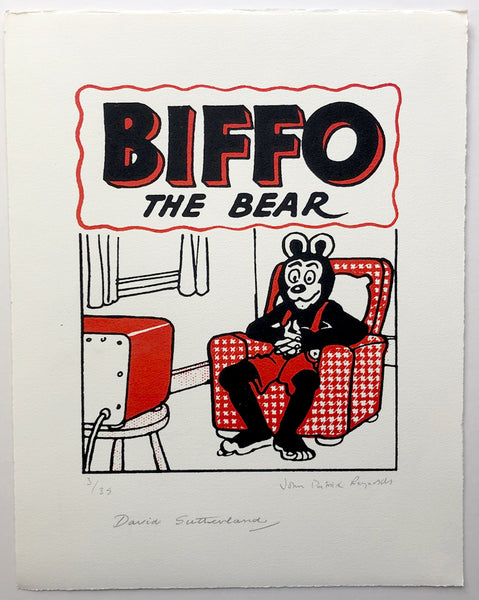 Biffo The Bear Watches Telly