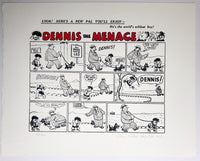 Dennis the Menace First Ever Strip, 1938