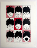 Dennis the Menace Pulls Nine Faces