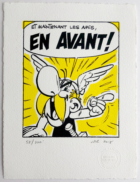 "Asterix's battle cry: ""En Avant"""