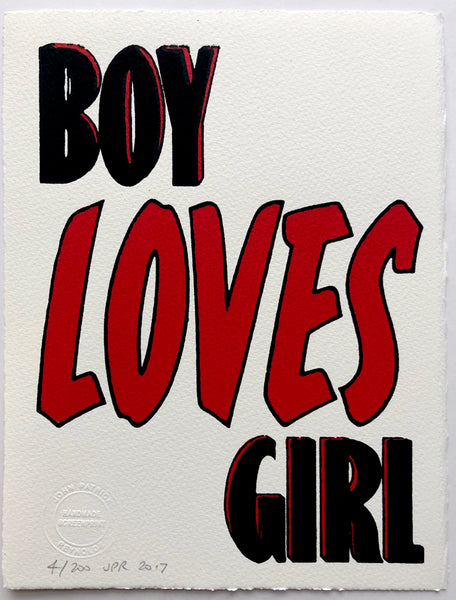 Boy Loves Girl (on white)