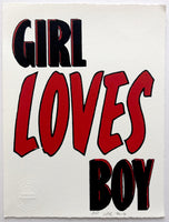 Girl Loves Boy (on white)