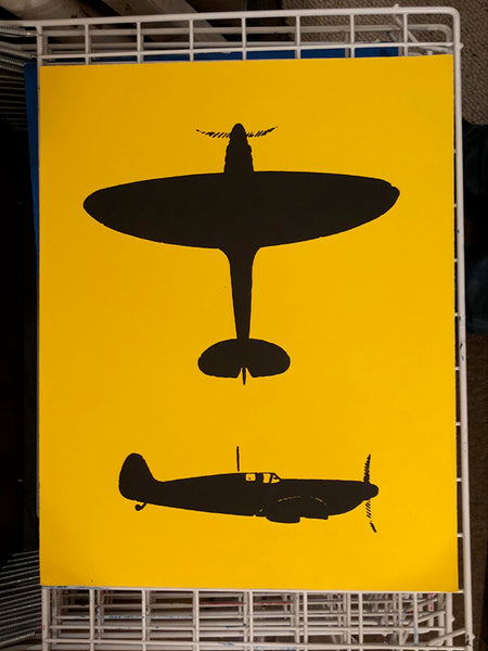 Spitfire Silhouettes (on yellow)