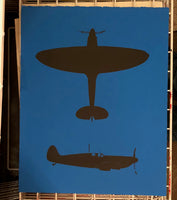 Spitfire Silhouettes (on sky blue)
