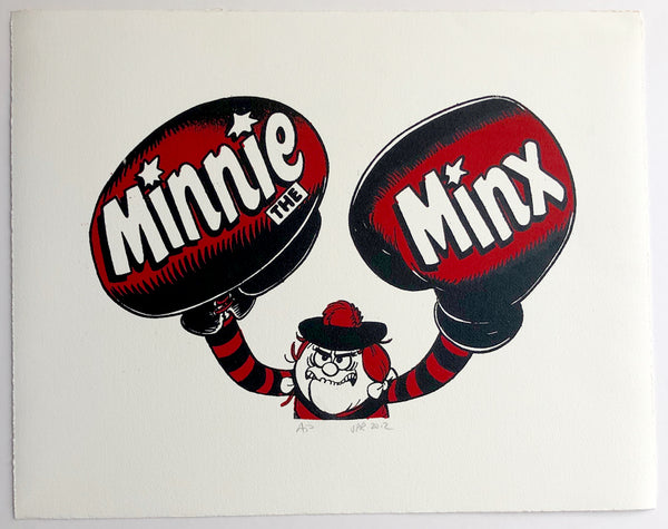 Minnie The Minx In Boxing Gloves