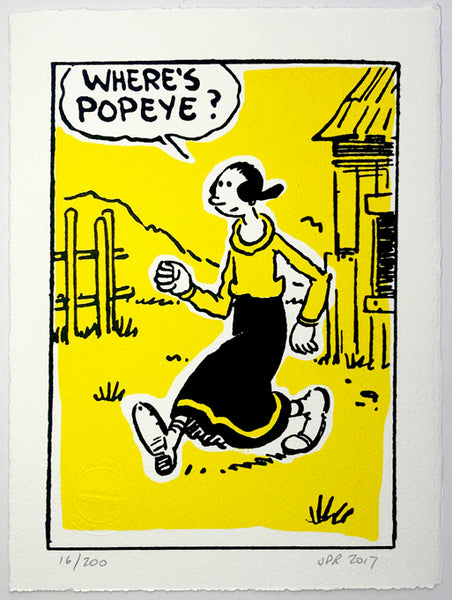 Olive Oyl Hunts For Popeye