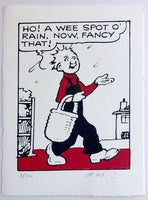 Oor Wullie notices it's raining