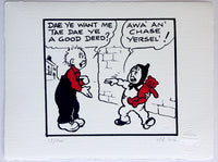 Oor Wullie and a fed-up Wee Eck