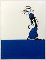 Popeye Stands Perplexed (on a blue bar)