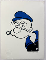 Popeye Smokes His Pipe