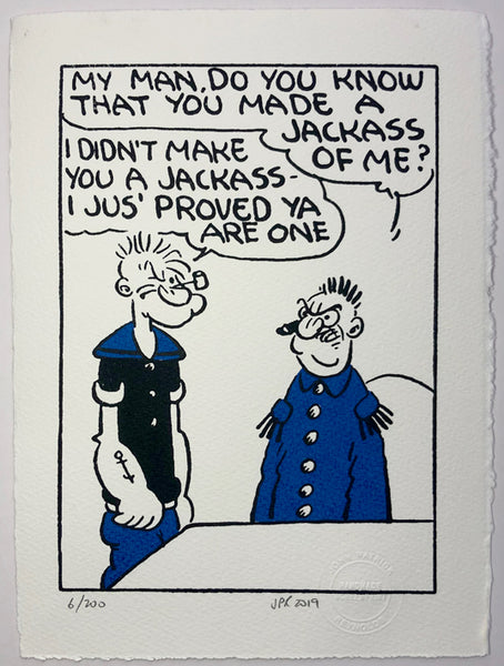 Popeye And The Jackass General