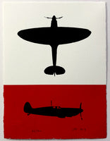 Spitfire Silhouettes (on White and Red)