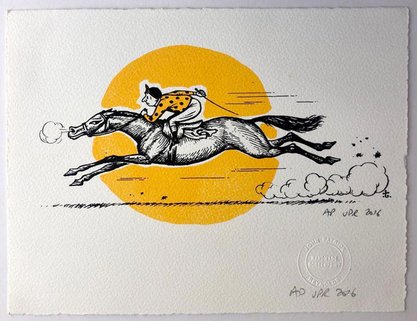 Thelwell's Racehorse And Setting Sun