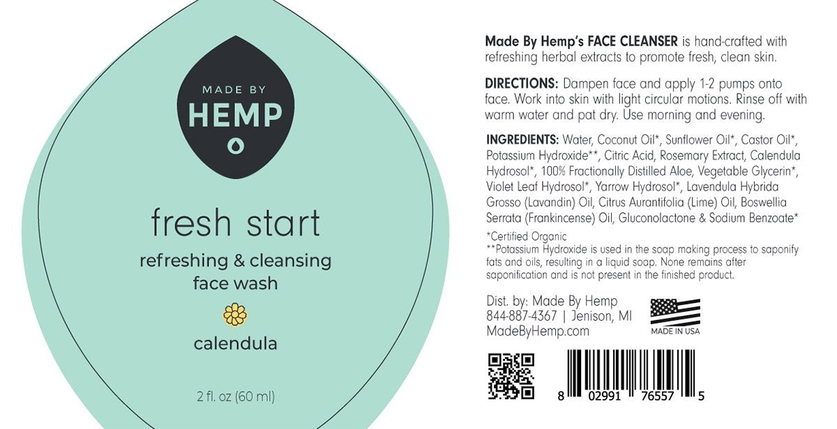 Made By Hemp – Face Cleanser 2oz All-Natural