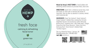 Made By Hemp – Face Toner 4oz All-Natural