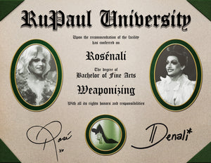 The Rosénali Weaponizing Diploma