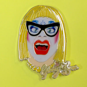 Ginny Lemon Face enamel pin