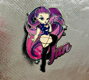 THE INTERPLANET JANet ENAMEL PIN
