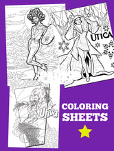 Load image into Gallery viewer, Utica's Coloring Sheet Set