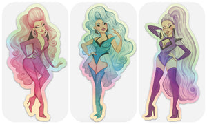 GIANT Stephanie's Child holographic sticker sets