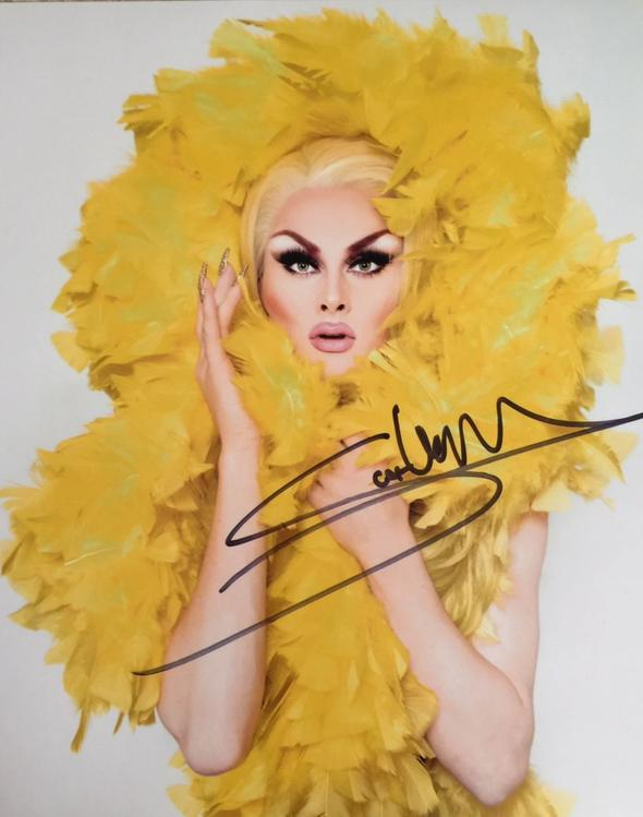 Scarlet Envy Signed Yellow Print