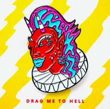 Load image into Gallery viewer, Crystal Methyd Drag Me to Hell Lil Devil pin