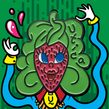 Load image into Gallery viewer, Utica Strawberry Head Enamel Pin