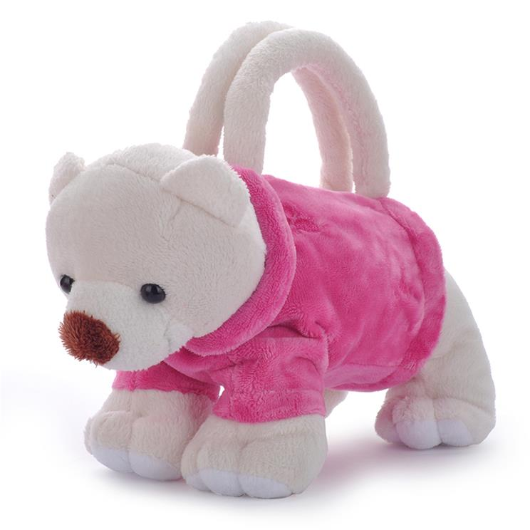 Cute plush puppy bag