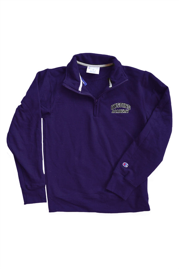 Champion 1/4 zip Purple Sweatshirt