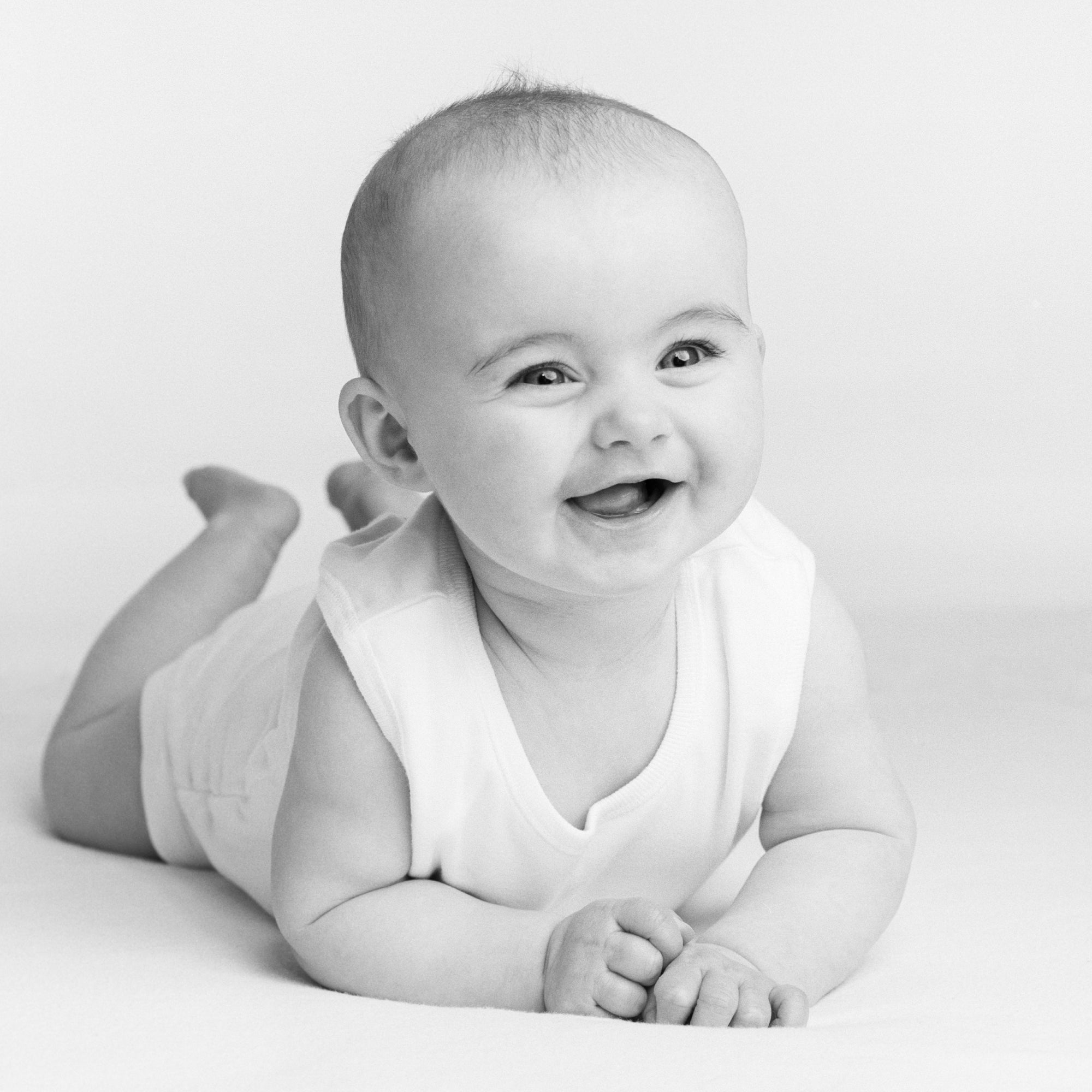 Baby Portrait in black & white by PHOTOGENIC Dalkey